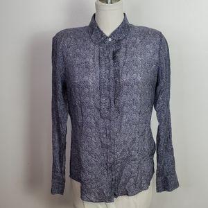 J.Crew The Perfect Shirt Silk Blend Button up Sz12
